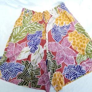 Vintage LizWear Floral/Hawaiian Skorts Sz 8
